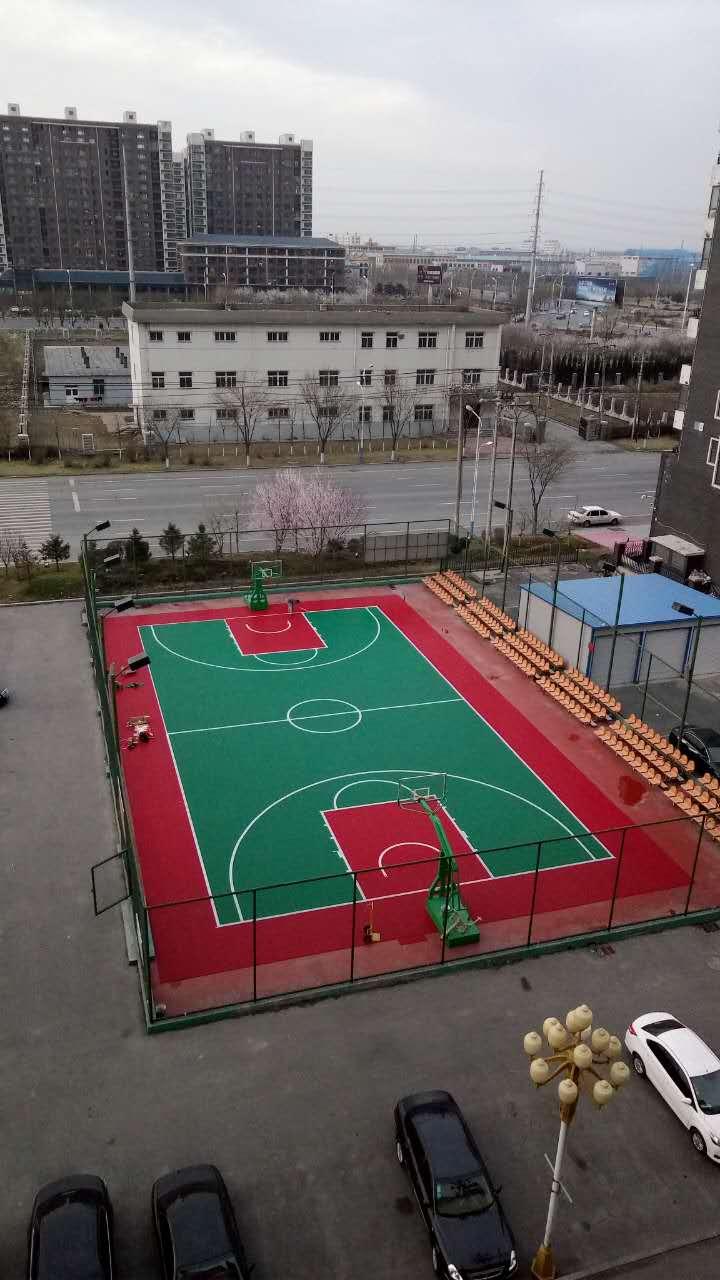 沈阳天韵篮球场拼装地板厂家